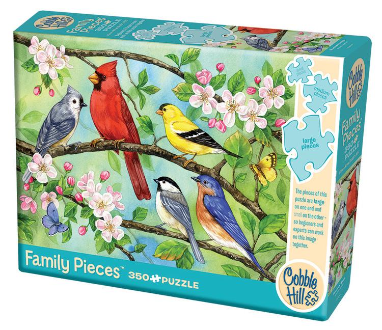 Pussel - Blommor och fåglar (350 bitar)