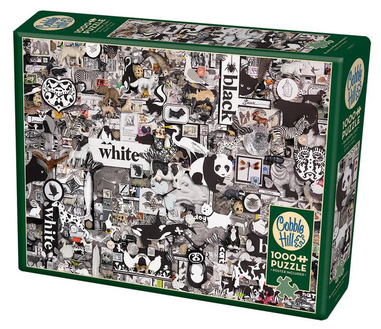 Black & White: Djur i alla former (1000 bitars pussel)