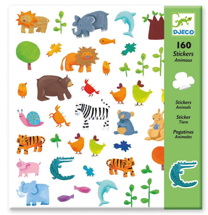 Klistermärken - Vilda djur från Djeco
