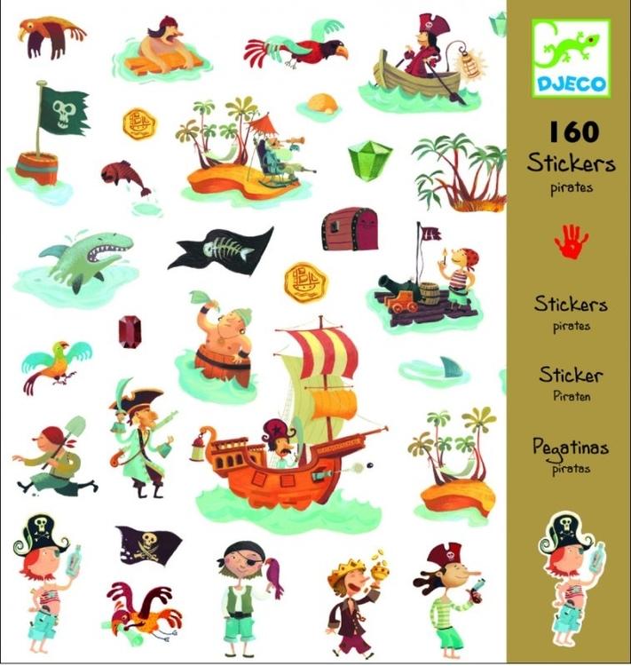 Klistermärken - Pirater och Sjörövare från Djeco