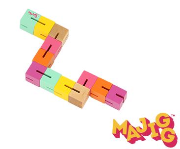 Twisty Blocks - Träleksak med retrodesign