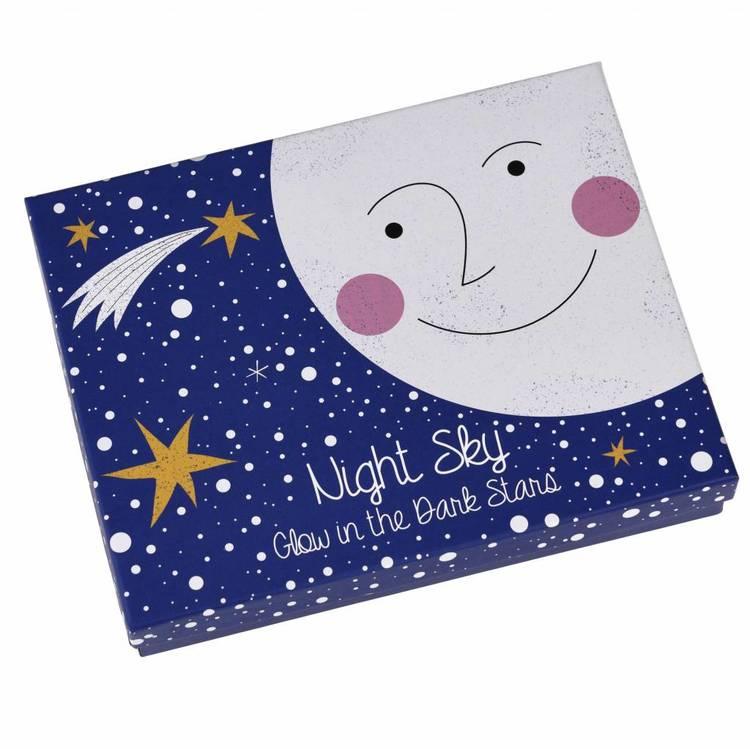 Självlysande stjärnhimmel
