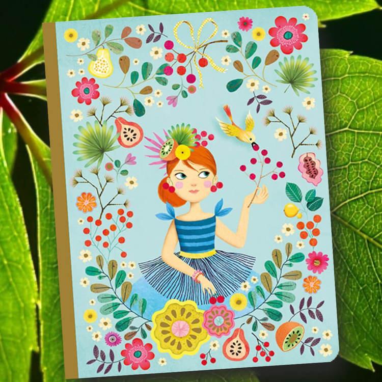 Notebook Rose - Somrig anteckningsbok från Djeco