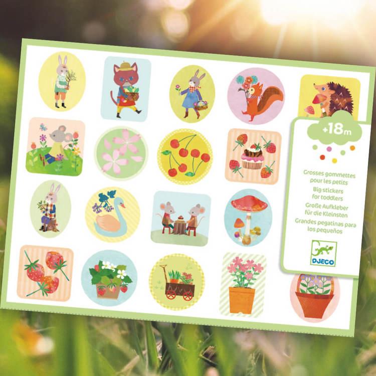 Klistermärken för de minsta - Trädgården