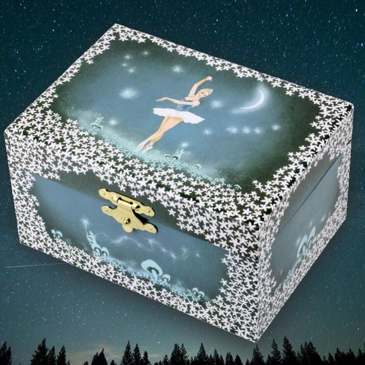 Speldosa och smyckeskrin - Lyser i mörkret (Ballerina)
