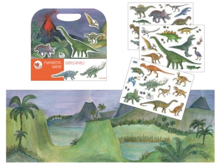 Magnetisk lek - Dinosaurier