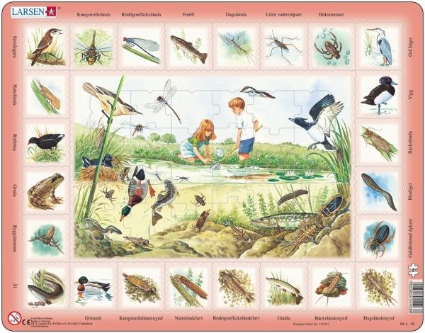 Pussel - Vad kan du hitta vid insjön? (48 bitar)