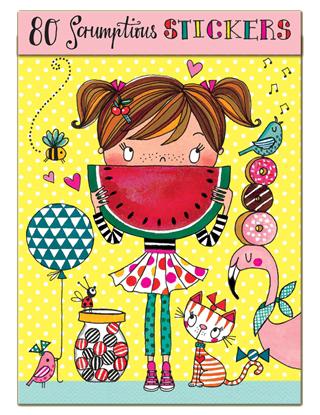 Klistermärken - Flicka med vattenmelon