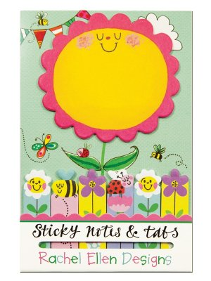 Sticky notes - Soliga solrosor och surriga bin