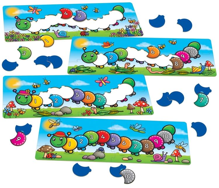 Räkna fjärilslarver -Spel där du övar både siffror och färger