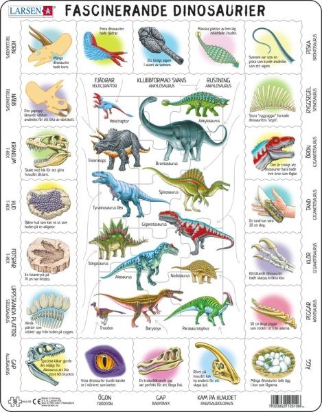 Pussel - Dinosaurier och fakta (35 bitar)
