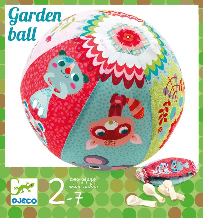 Fjäderlätt boll med ballong - Ballongboll med trädgårdsmotiv