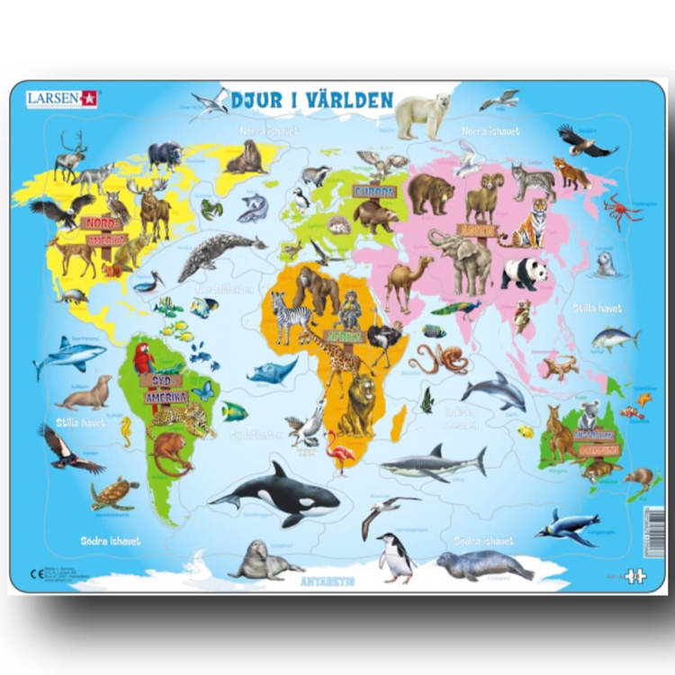 Pussel - Djur i världen (28 bitar)