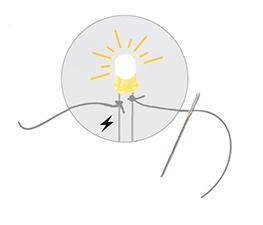 Lär dig om elektricitet - Gör en egen brosch med belysning från Djeco