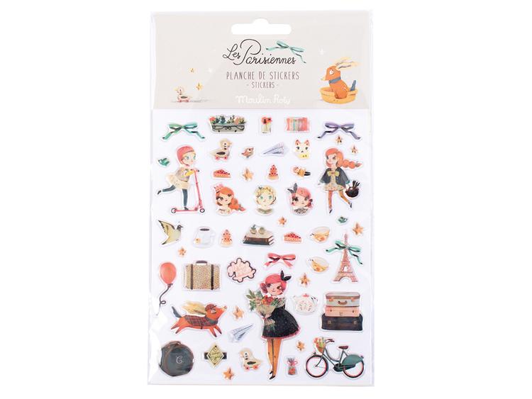 Stickers -  'Les Parisiennes' - Kompisar (Fraktfritt)