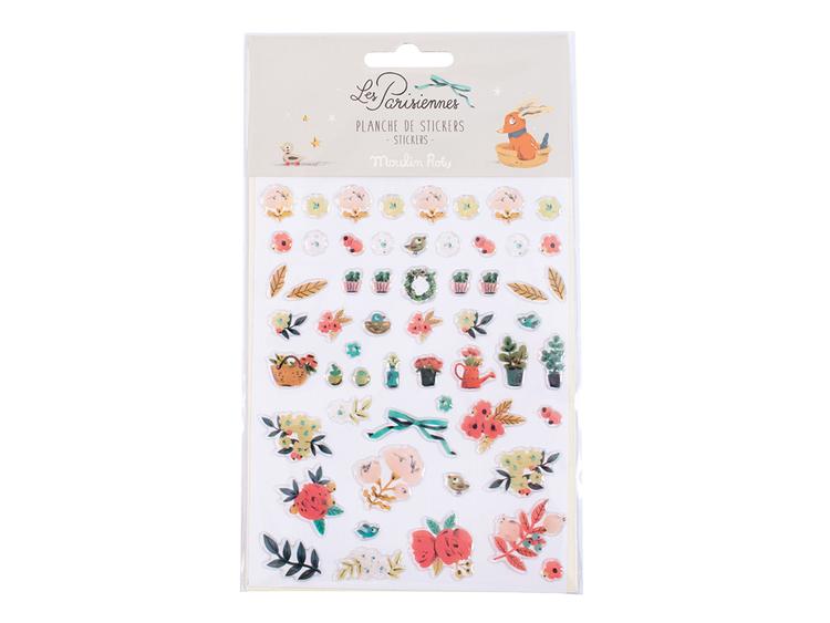 Stickers -  'Les Parisiennes' Blommor (Fraktfritt)