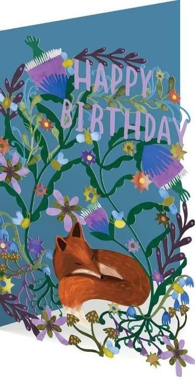 Happy Birthday - Kort och kuvert