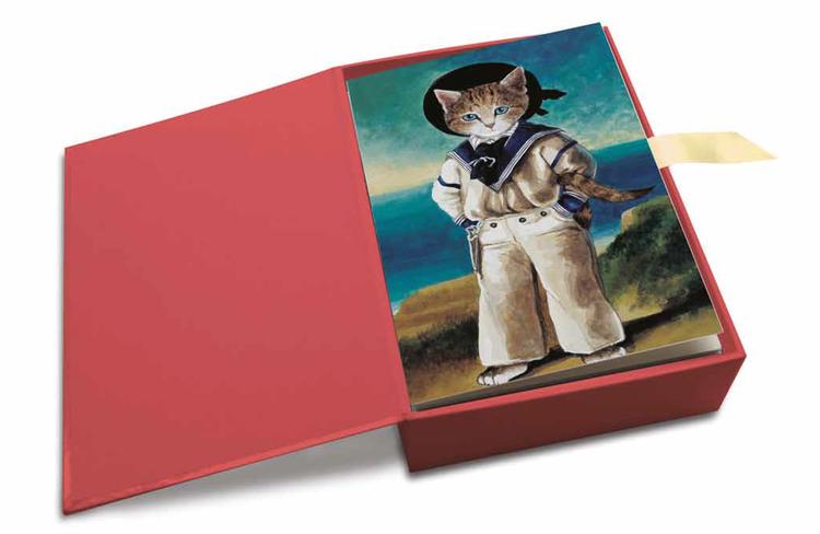 Vackra kort med kuvert - Katter i konsten