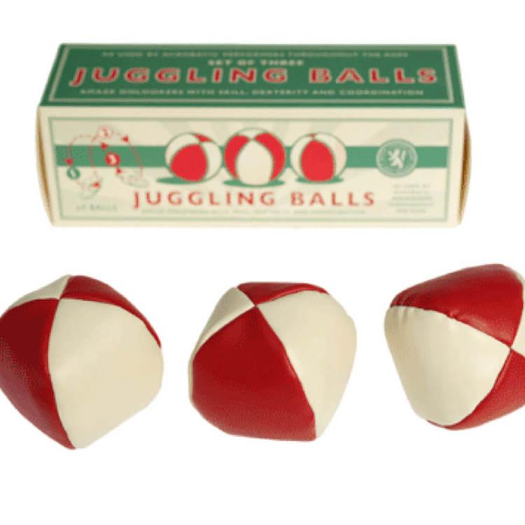 Jonglerbollar med retrokänsla