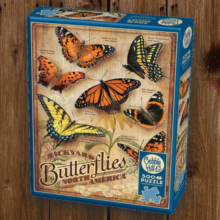 Pussel - Retrofjärilar (500 bitar)