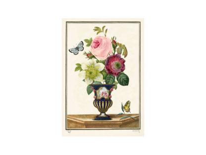 Vackert kort med kuvert - Blomstervas (Fraktfritt)