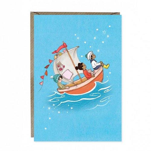 Gratulationskort- Seglingsdrömmar från Belle & Boo
