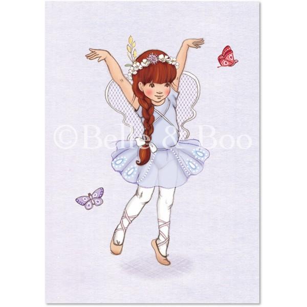 Enkelt Kort - Flickan och fjärilarna (Fraktfritt)