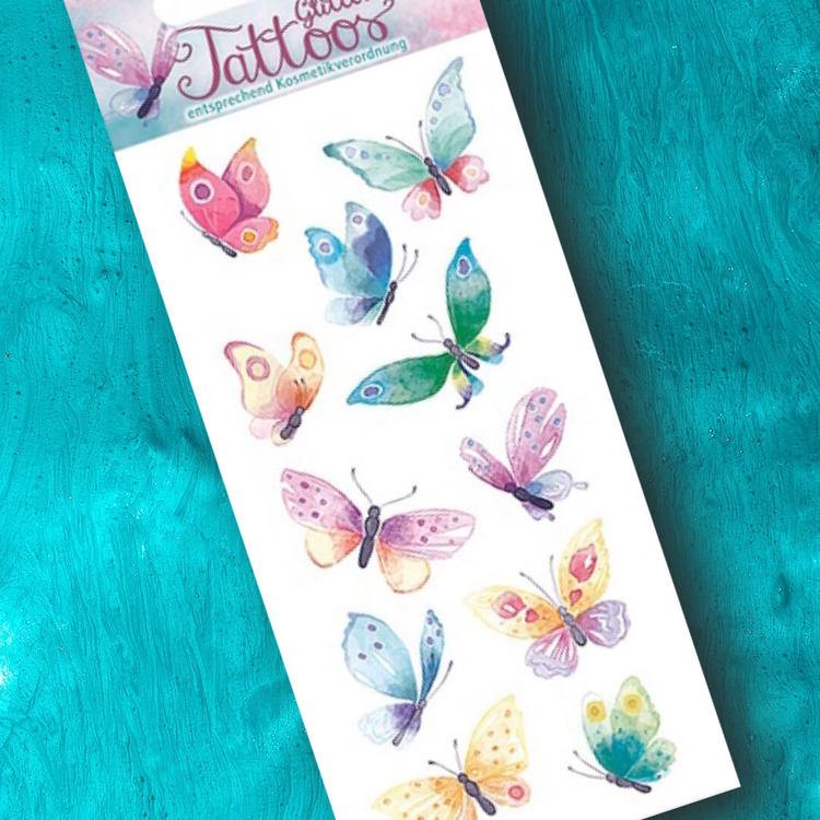 Tatueringar - Fjärilar med glitter (Fraktfritt)