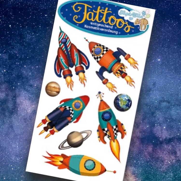Tatueringar - Rymden (Fraktfritt)