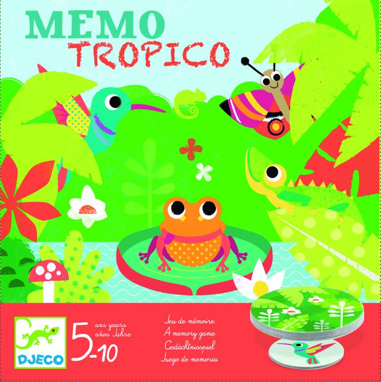 Memory spel -Tropiska djur från Djeco