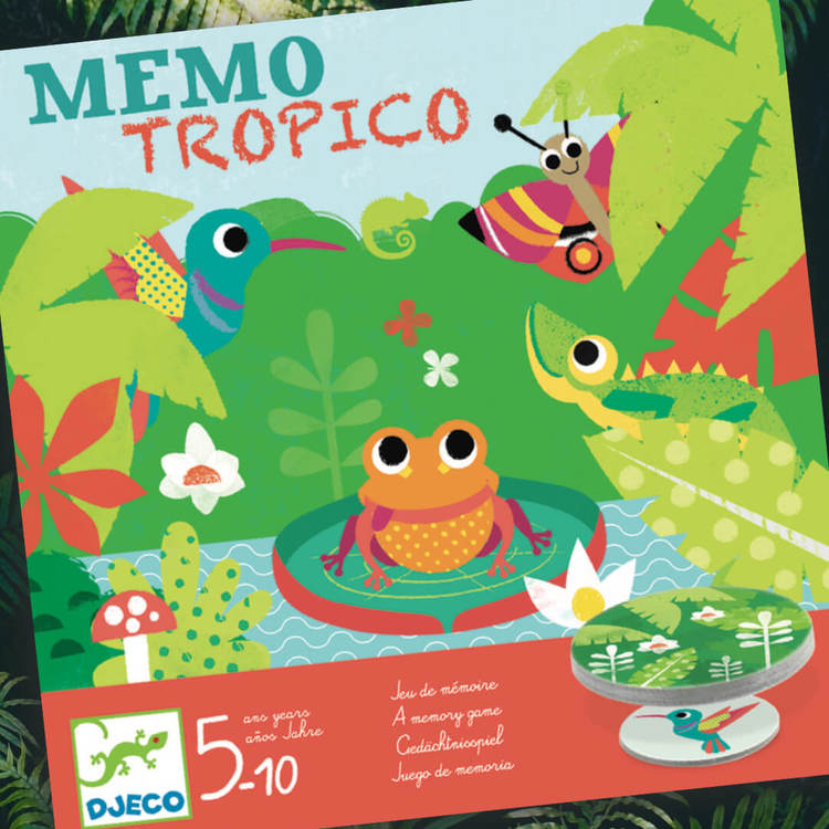 Memory spel -Tropiska djur