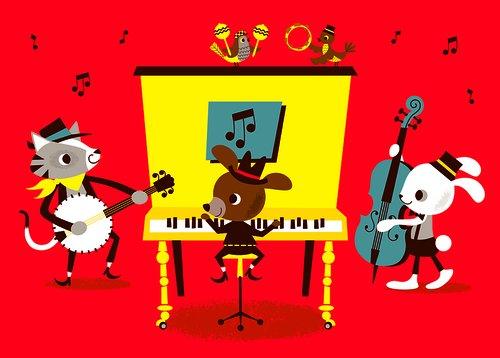 Enkelt större kort - Den lilla orkestern (Fraktfritt)