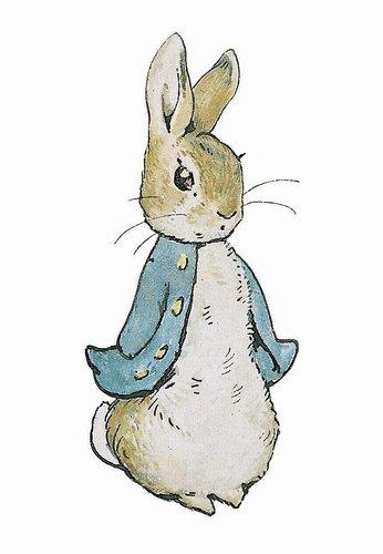 Litet kort med kuvert - Pelle Kanin av Beatrix Potter (Fraktfritt)