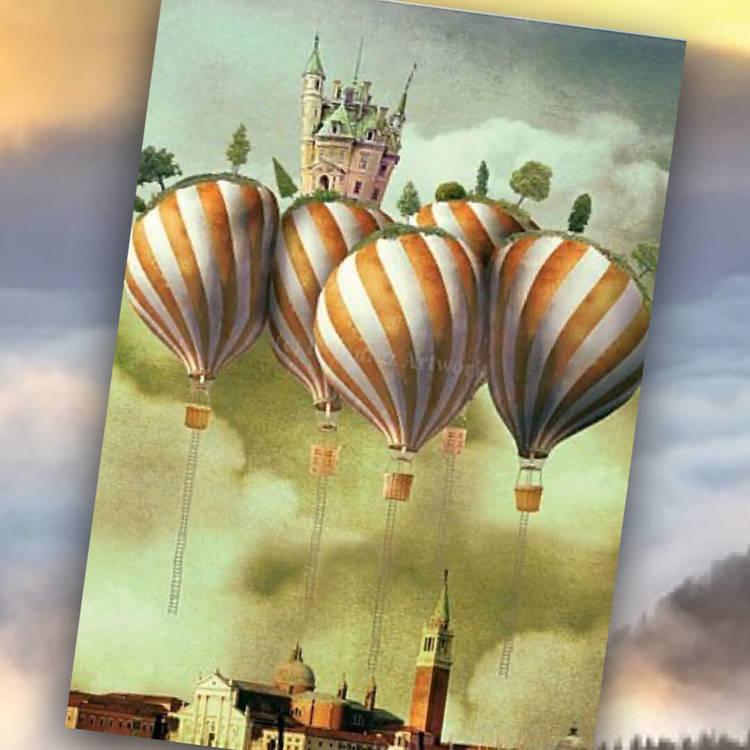 Kort med kuvert - Olydiga ballonger (Fraktfritt)