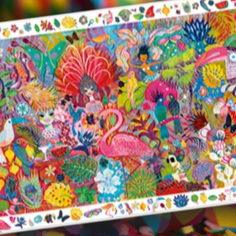 Färgsprakande observationspussel  - Karneval (200 bitar)
