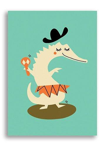 Enkelt Kort - Svängig krokodil (Fraktfritt)