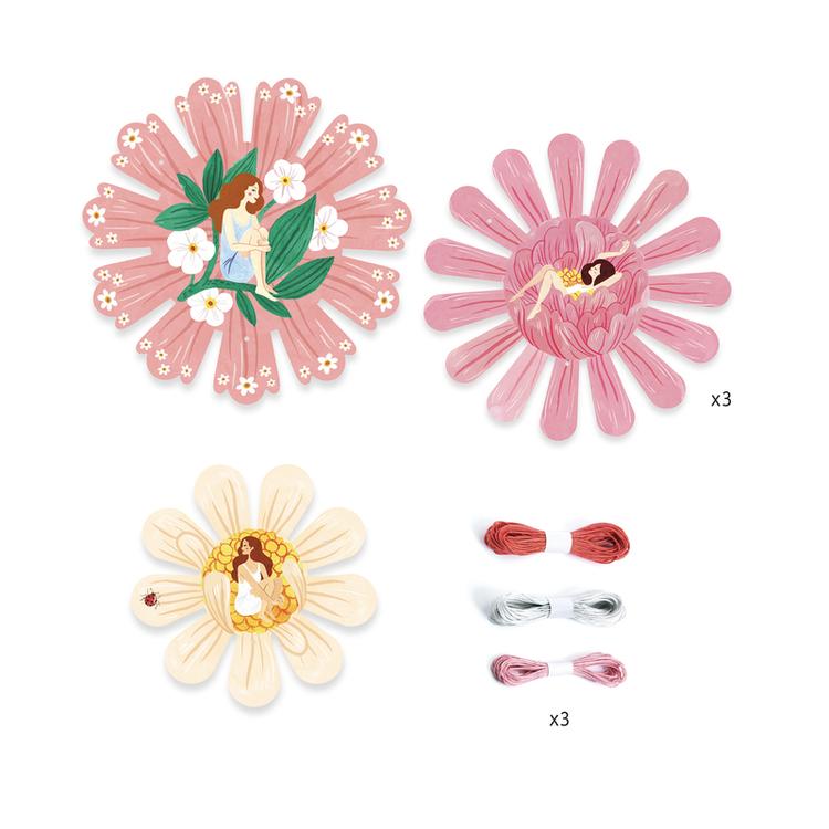 Gör egna korgar i blomform- Pyssel från Djeco