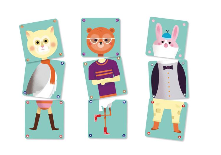 Animomix - Kortspel för barn från Djeco