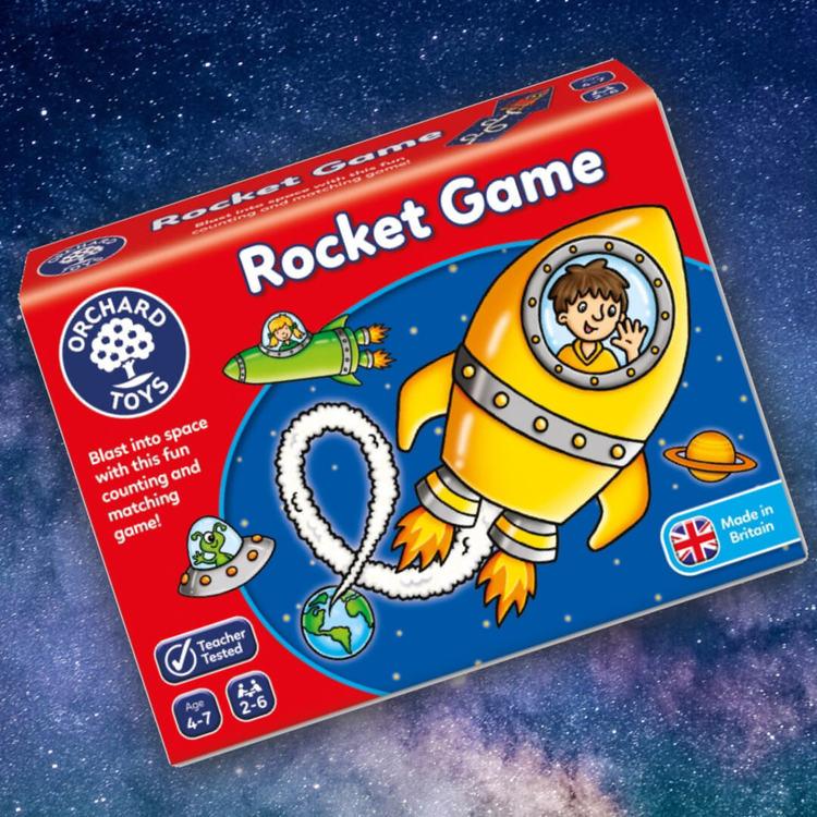 Rocket game - Rymdspel där du samlar loopar i rymden