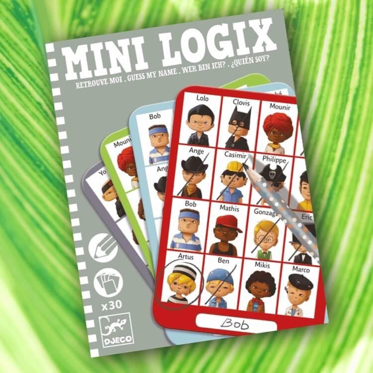 Mini Logic - Gissa mitt namn (Guess my name) - Killar från Djeco