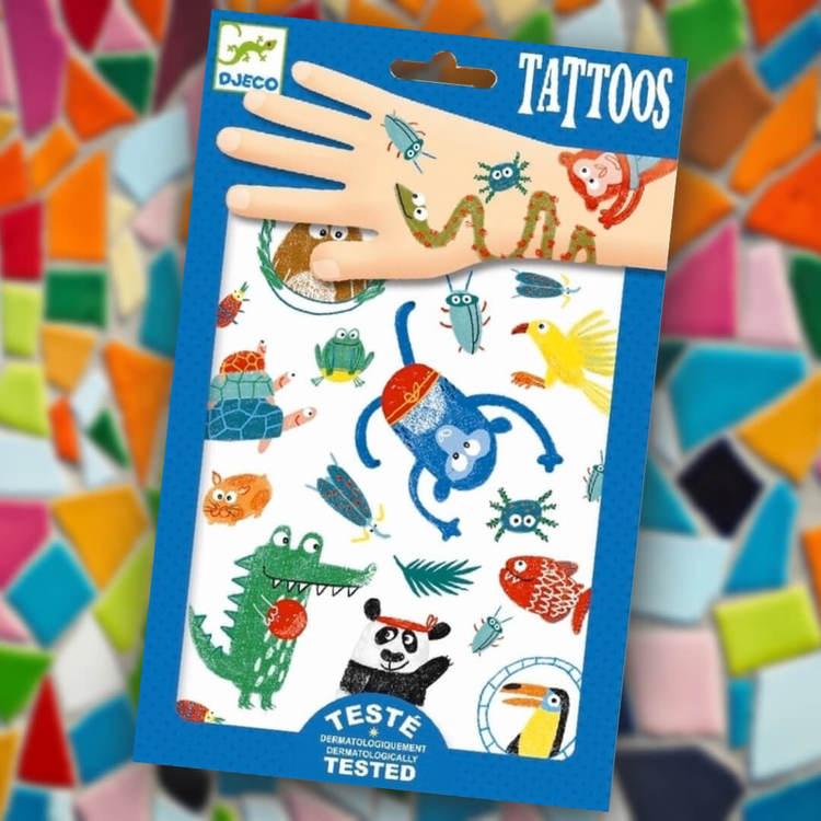 Tatueringar - Finurliga djur från Djeco