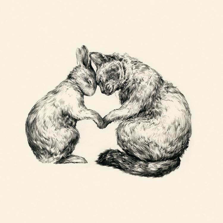 Dubbelt kort -Som katt och kanin (Fraktfritt)