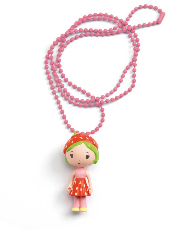 Vackert litet halsband - Jordgubbsflicka
