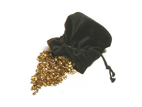 Penningpung i svart sammet