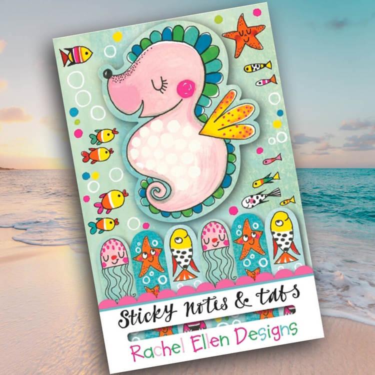 Sticky notes -  Sjöhästar och sjöstjärnor