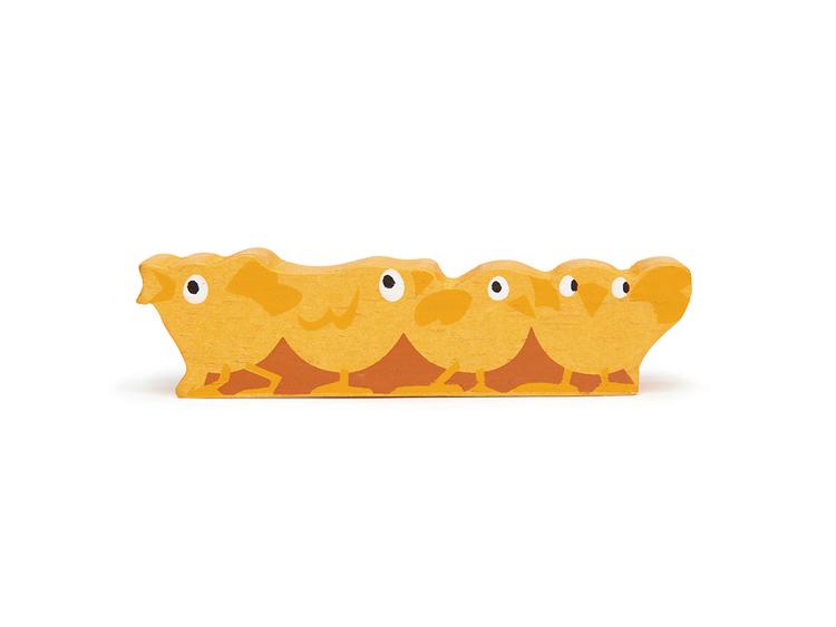 Bondgårdens vackra djur i trä från Tender Leaf Toys - Kycklingar