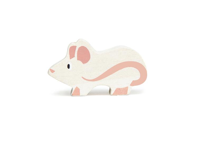 Bondgårdens vackra djur i trä från Tender Leaf Toys - Mus