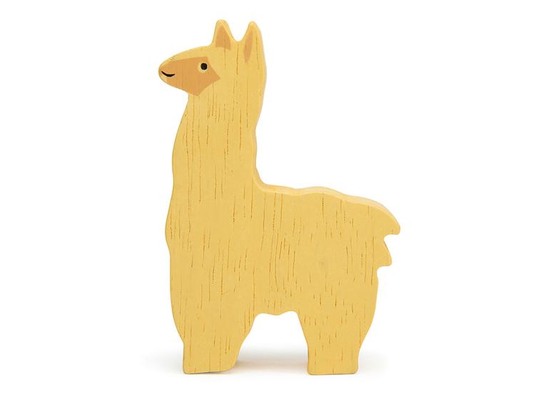 Bondgårdens vackra djur i trä från Tender Leaf Toys - Alpaca