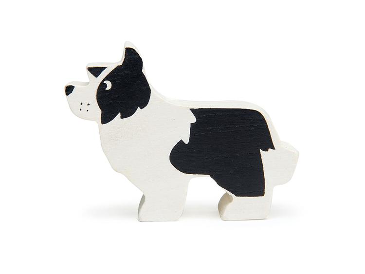 Bondgårdens vackra djur i trä från Tender Leaf Toys - Hund