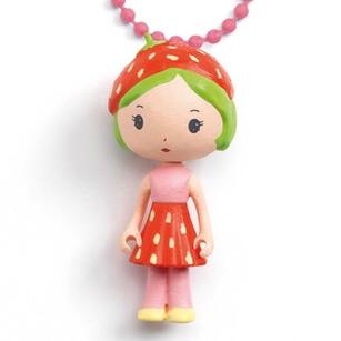 Vackert litet halsband - Jordgubbsflicka från Djeco